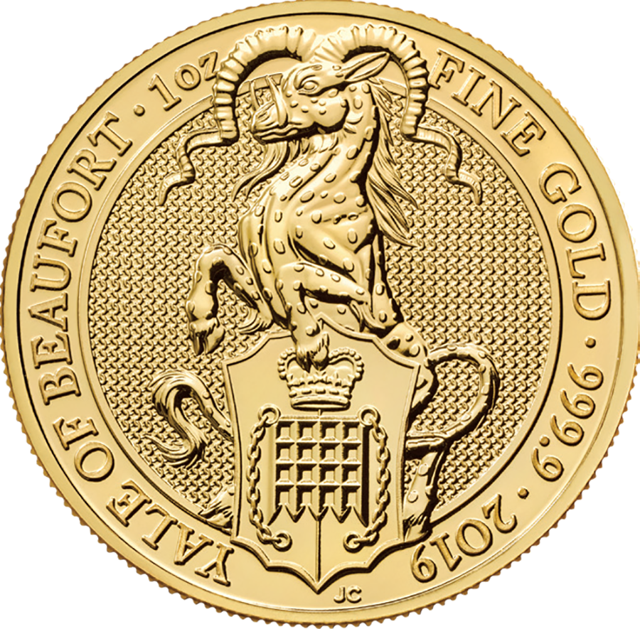 Picture of 2019 1oz 24k Gold UK Queen's Beast 'The Yale of Beaufort'
